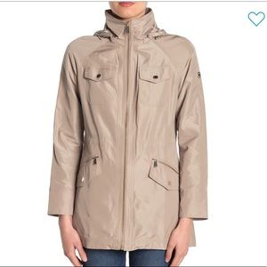 NEW Michael Kors Drawstring Hooded Coat